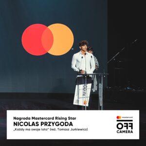 NICOLAS PRZYGODA Z NAGRODĄ MATERCARD RISING STAR NA MIĘDZYNARODOWYM FESTIWALU Kina Niezależnego Mastercard OFF CAMERA